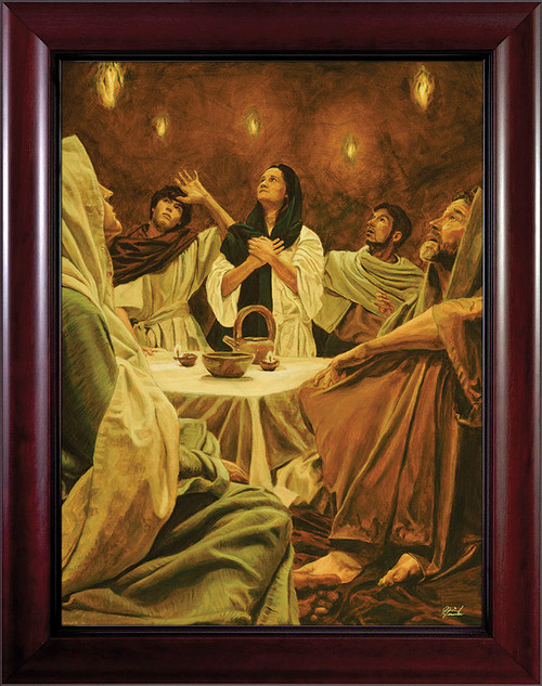 Descent of the Holy Spirit by Jason Jenicke Cherry Framed Art