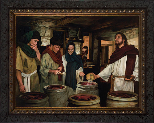 Wedding at Cana by Jason Jenicke - Ornate Dark Framed Art