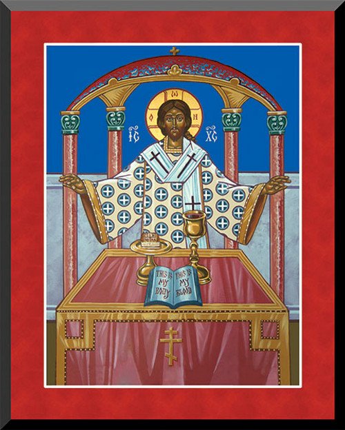 The Holy Eucharist (Detail) by Fr. Thomas Loya