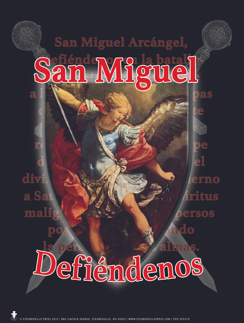 Spanish St. Michael Defend Us Poster