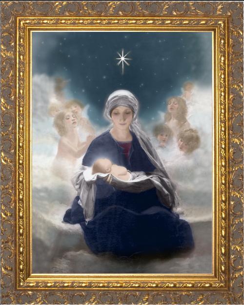 Star of Bethlehem Ornate Gold Framed Art