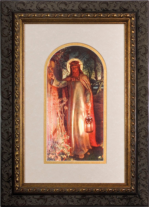 Light of the World Matted - Ornate Dark Framed Art