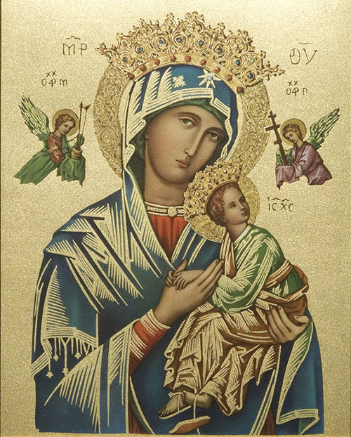 Our Lady of Perpetual Help (Gold) Print