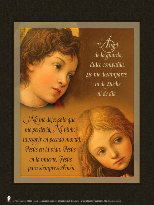Spanish Guardian Angel (cherub) Poster