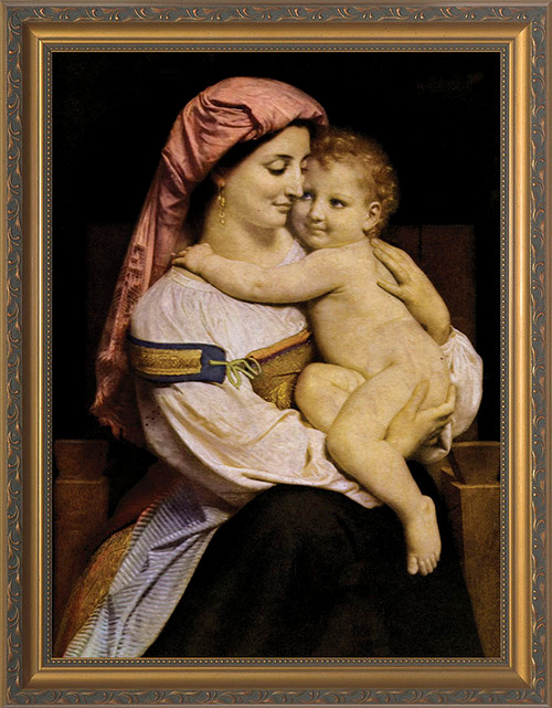 Mother and Child by Bouguereau Framed Art