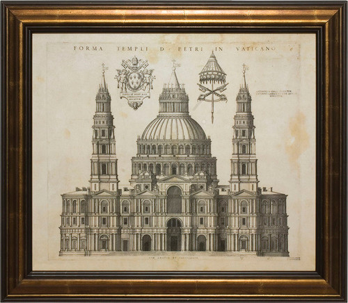 Proposed Facade of the Vatican Framed Art