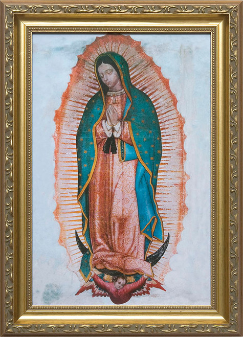 Our Lady of Guadalupe Full Image - Standard Gold Framed Art