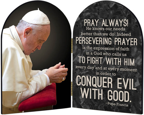 Pope Francis in Prayer Arched Diptych