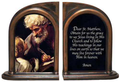 St. Matthew and the Angel Bookends