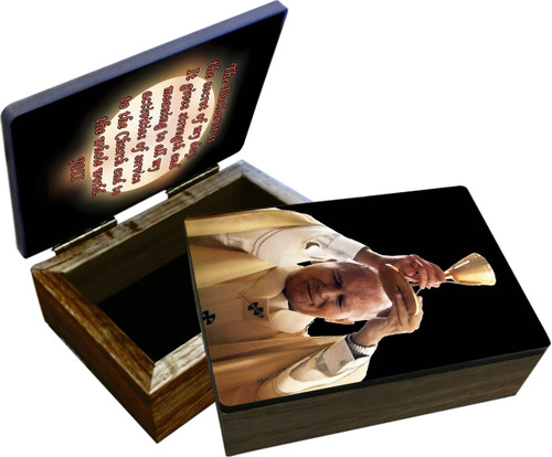 St. John Paul II Raising Chalice Keepsake Box