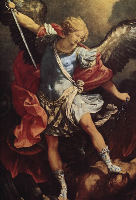 St. Michael the Archangel Outdoor Image Plate