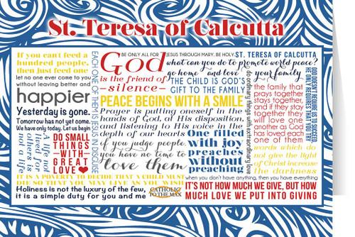 Saint Teresa of Calcutta Quote Card