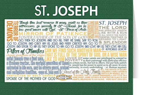 Saint Joseph Quote Card