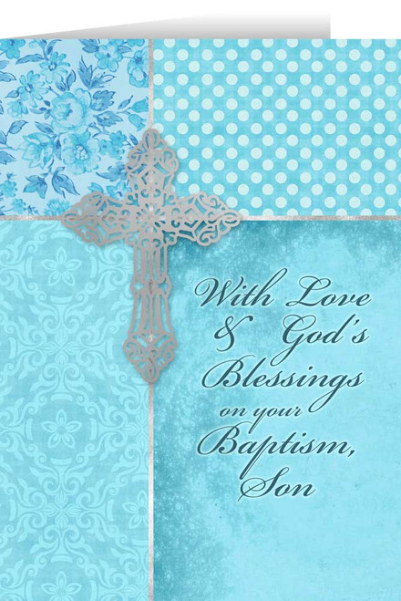 Baptism greeting cards son on your baptism greeting card m4hsunfo