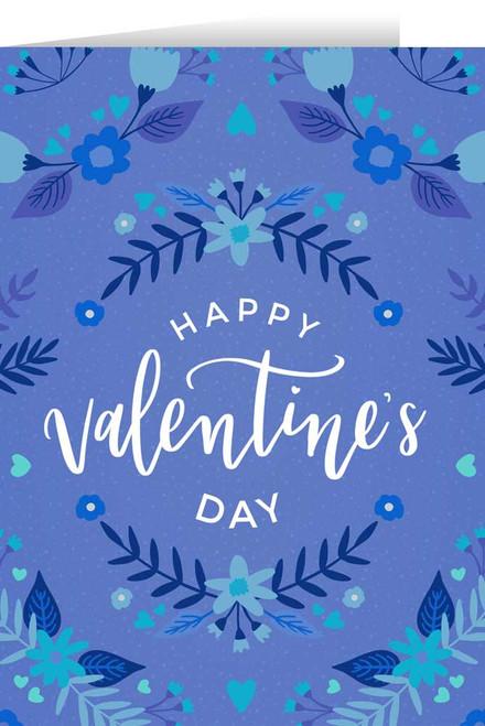 Happy Valentine's Day Blue Valentine's Day Greeting Card