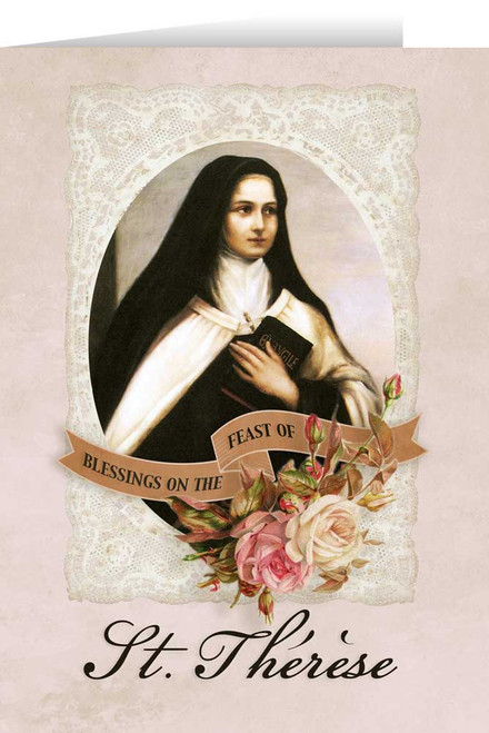 St. Thérèse Feast Day Greeting Card