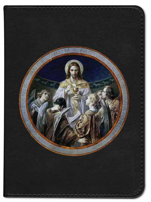 Personalized Catholic Bible with Christ, Bread of Angels - Black RSVCE