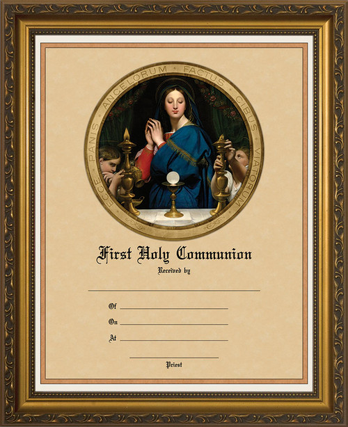 Madonna of the Host - Gold Framed Certificate