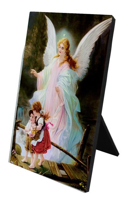 Angel on the Perilous Bridge Vertical Desk Plaque