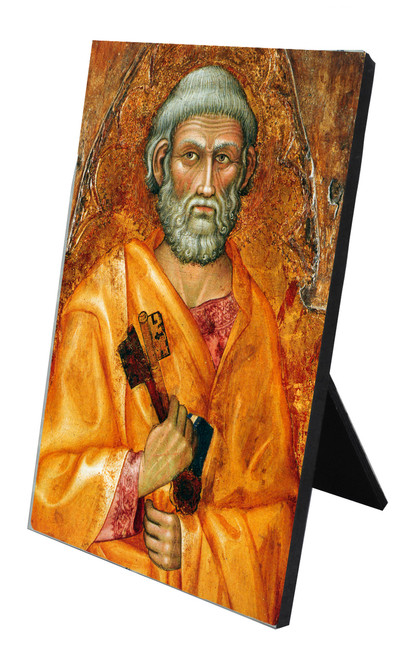 St. Peter Vertical Desk Plaque