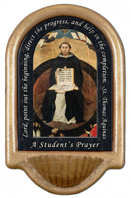St. Thomas Aquinas Prayer Holy Water Font