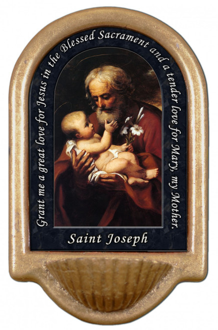 St. Joseph (Older) Prayer Holy Water Font