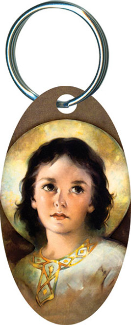 Christ Child Oval Keychain