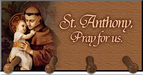St. Anthony with Jesus Keychain Holder