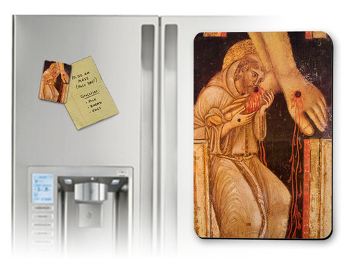St. Francis Kissing the Feet of Christ Magnet