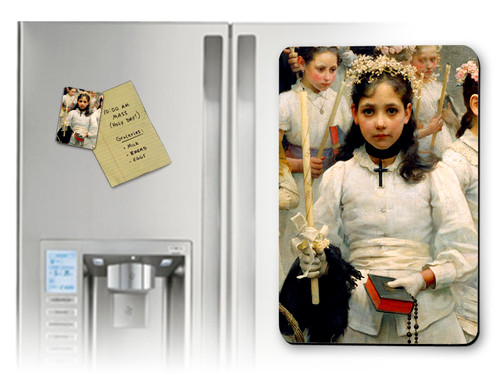 After the First Holy Communion (Detail 1 Girl) Magnet
