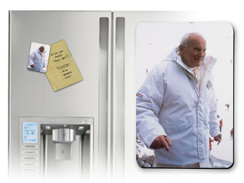 St. John Paul II Pope on the Slope  Magnet