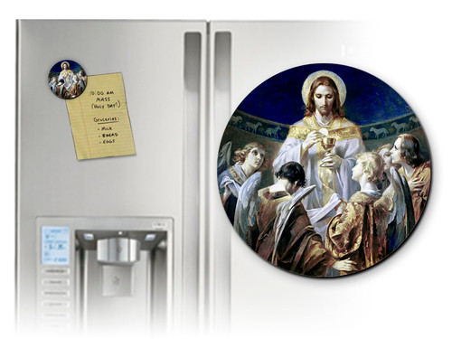 Christ, Bread of Angels Round Magnet