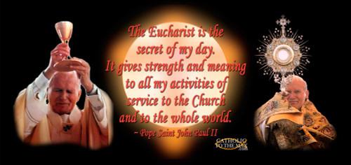 Pope John Paul II Eucharist Quote Mug