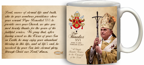 Pope Benedict XVI Commemorative 11 oz Mug