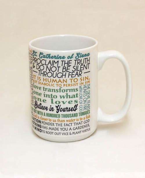Saint Catherine of Siena Quote Mug