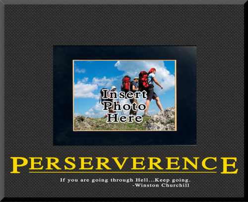 """Perserverence"" Picture Frame"