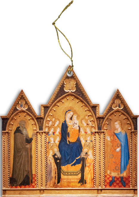 Madonna and Child Triptych II Wood Ornament