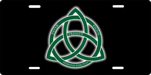 Trinity Logo License Plate