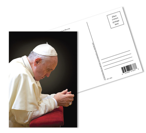 Pope Francis Praying Commemorative Apostolic Journey Postcards