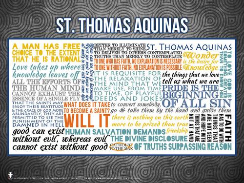 Saint Thomas Aquinas Quote Poster
