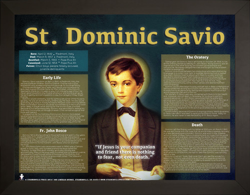 Saint Dominic Savio Explained Poster