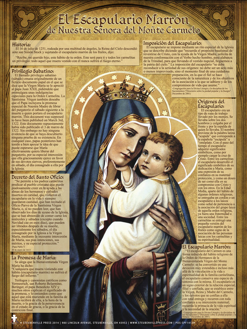 Spanish Brown Scapular Explained Poster