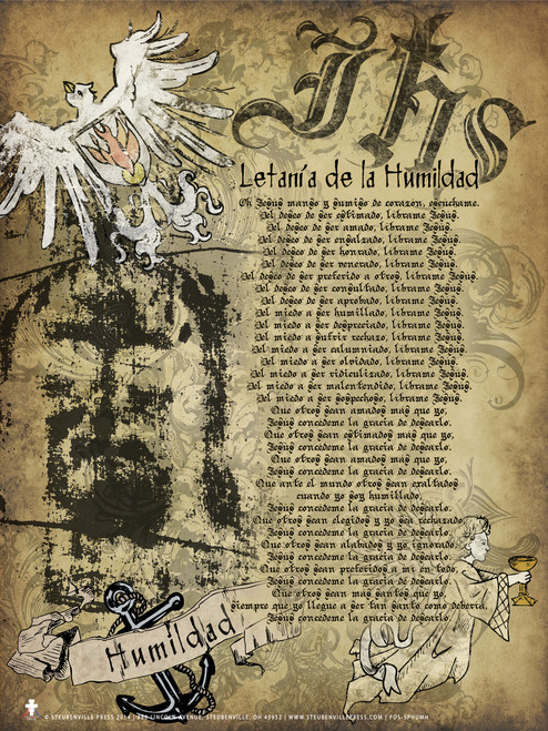 Spanish Lit. of Humility Poster