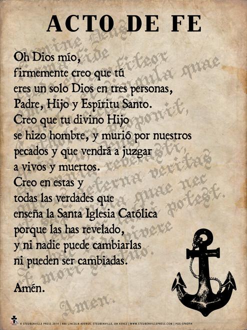 Spanish Act of Faith Poster