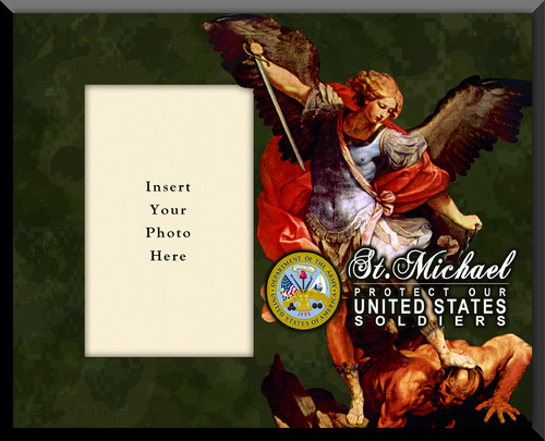 Army 'St. Michael' Photo Frame