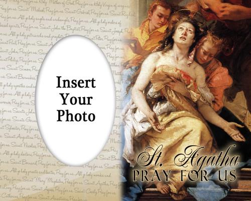 St. Agatha Photo Frame
