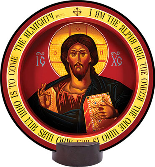 Christ the Teacher Round Desk Plaque