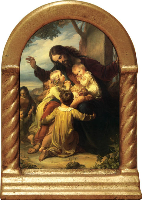 Jesus with the Children Desk Shrine