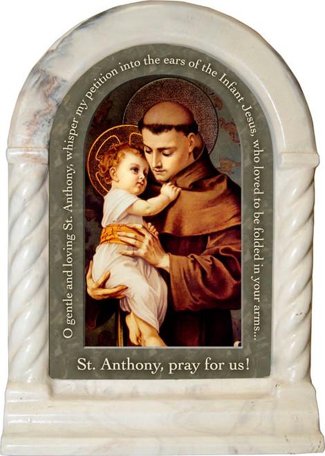 St. Anthony with Jesus Prayer Desk Shrine