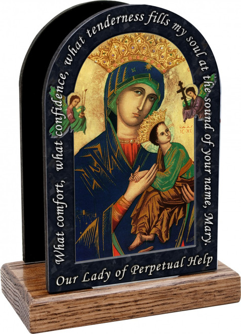 Mother of Perpetual Help Prayer Table Organizer (Vertical)